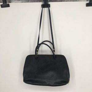 High End Borse in Pelle Black Leather Purse Tote